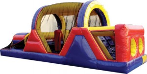 30-foot inflatable backyard obstacle course