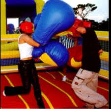 giant boxing gloves are a blast!