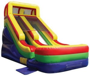 Eighteen foot extreme inflatable slide