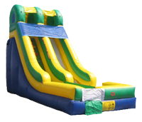 Alternate color scheme inflatable slide